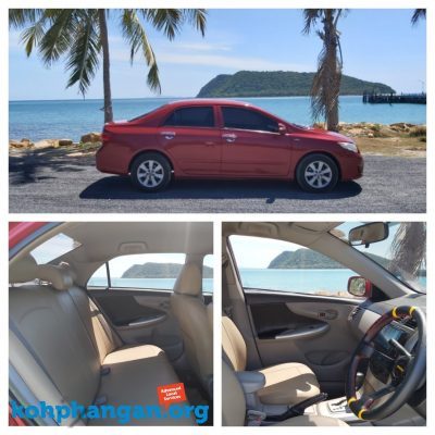 Toyota Corolla - Car Rental Koh Phangan - best Family Car